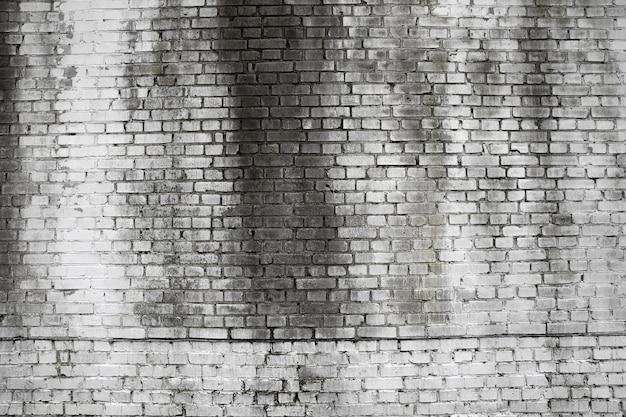 Witte bakstenen muur voor achtergrond of textuur