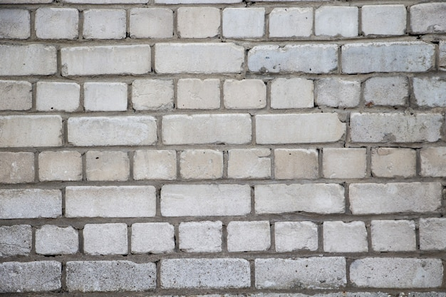 Witte bakstenen muurtextuur, achtergrond voor ontwerp