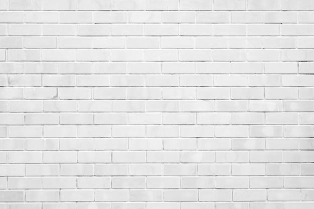 Witte bakstenen muurtextuur en achtergrond met exemplaarruimte
