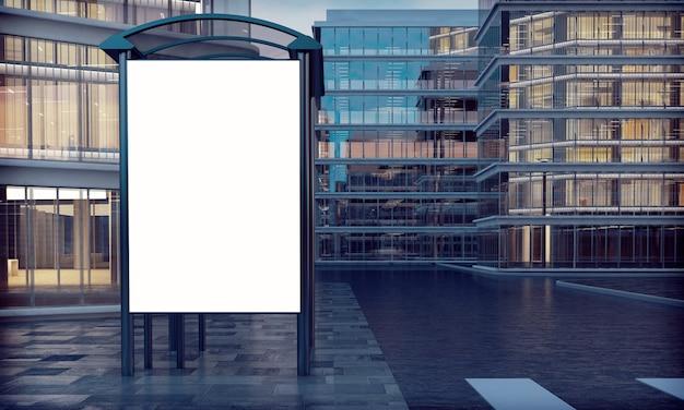 Witte billboard bushalte