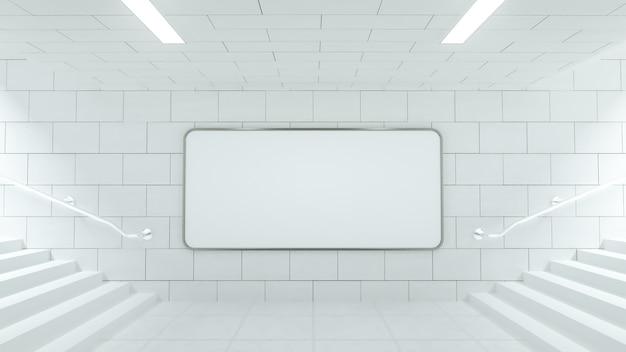 Witte billboard op een treinstation