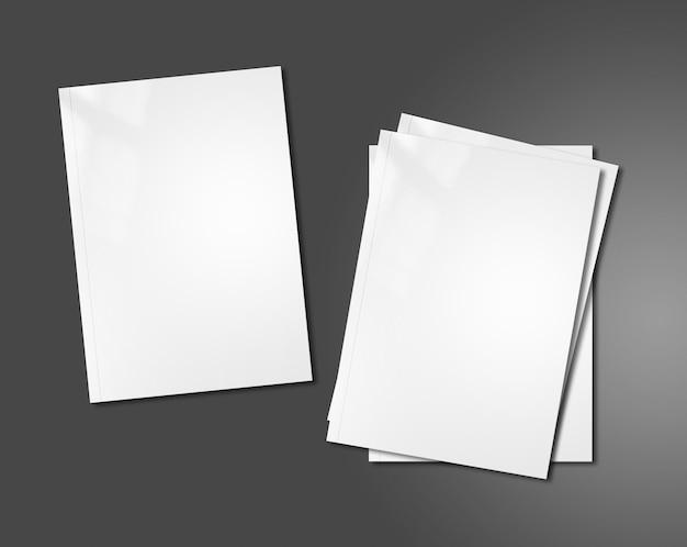Witte boekjes mockup sjabloon