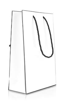Witte boodschappentas geïsoleerd op white