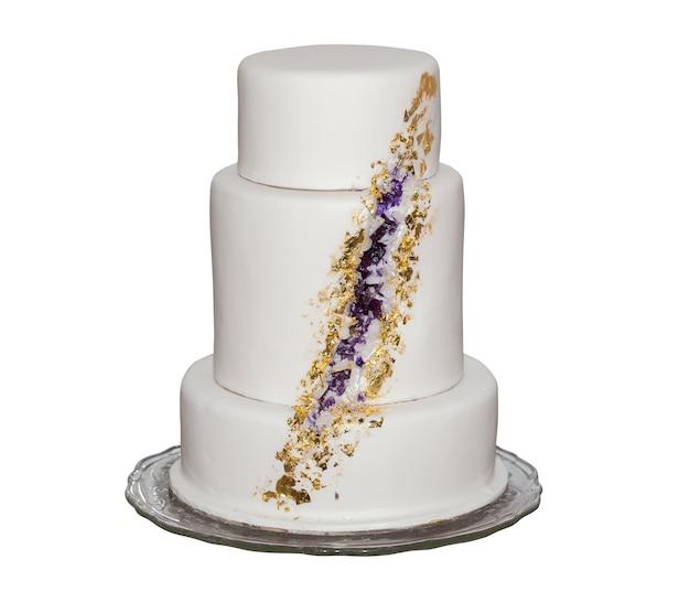 Witte cake geïsoleerd