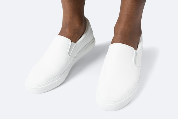 Witte canvas sneakers herenschoenen mode