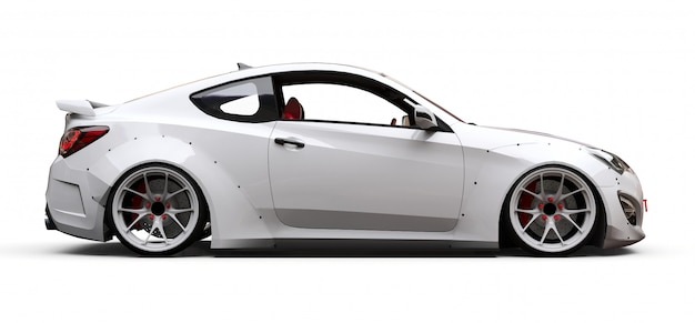 Witte coupé sportwagen