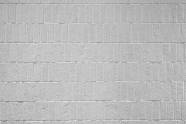 Witte de baksteentextuur met hoge resolutie in muurvoorgevel / achtergrondtextuur / naadloos patroon / verweerd materiaal