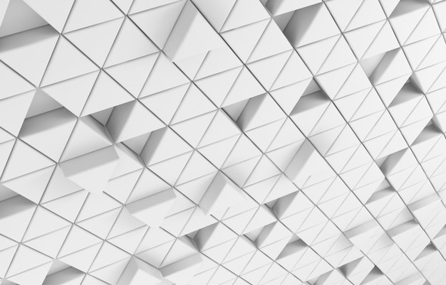 Witte driehoekige abstracte achtergrond