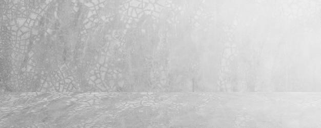 Witte en grijze concreate en cement horizontale studio en showroomachtergrond