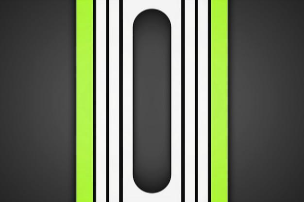 Witte en groene rechte strepen op een grijze achtergrond. 3d-patroonlijnen modern design, strepen