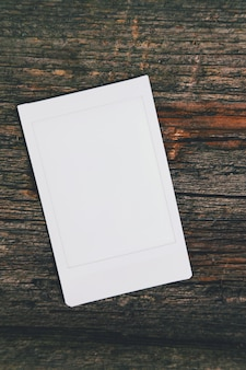 Witte fotolijstsjabloon