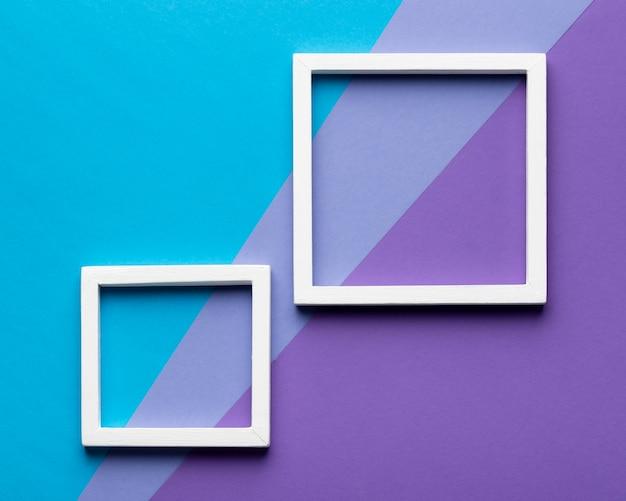 Witte frames op kleurrijke achtergrond