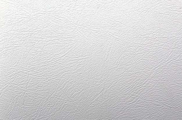 Witte gegolfde leder texture.