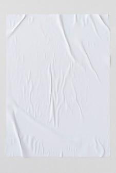 Witte gekreukt papier textuur achtergrond