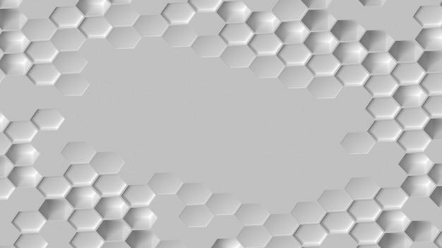 Witte geometrische achtergrond plat leggen