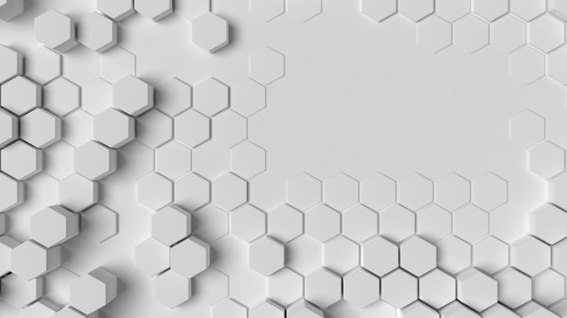 Witte geometrische achtergrondstructuur plat leggen