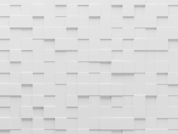 Witte geometrische kubus achtergrond