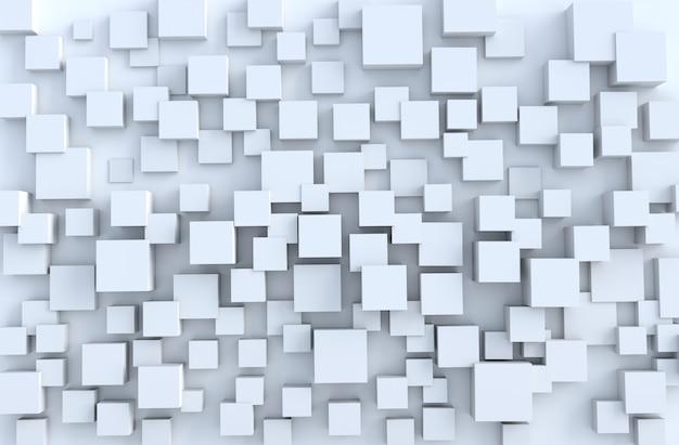Witte geometrische kubus vormen achtergrond. voor het ontwerp versieren.