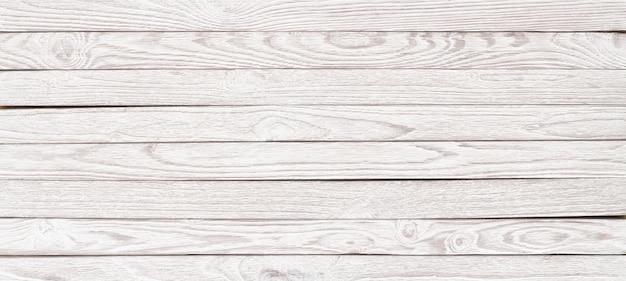 Witte houtstructuur voor de lay-out, panorama houten tafel voor achtergrond