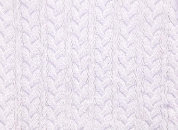 Witte katoen merino of wol gebreide handgemaakte witte grote deken super dik garen wit textureconcept