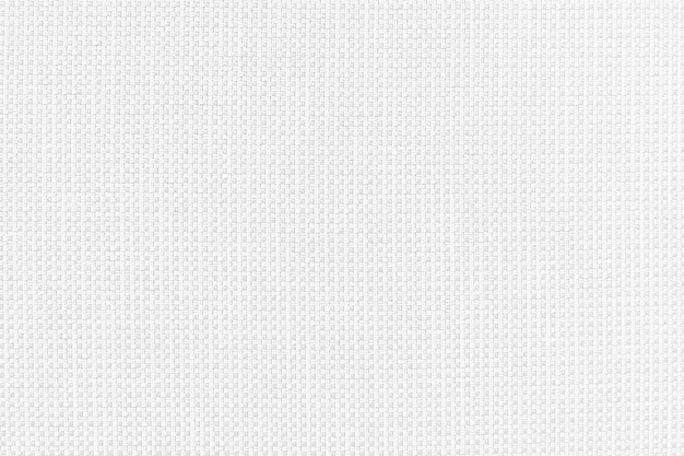Witte katoenen garengeverfde stof van stoffen tas textuur detail.