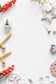 Witte kerst frame achtergrond.