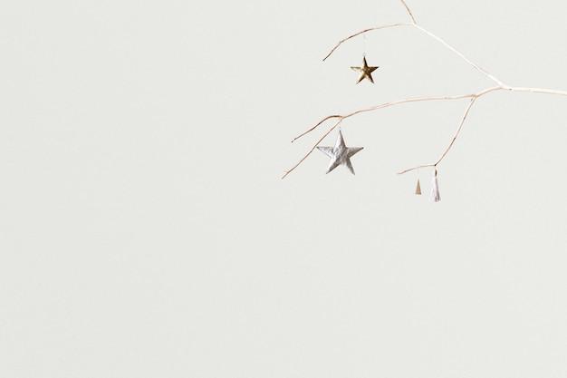 Witte kerst sociale media banner achtergrond met ontwerpruimte
