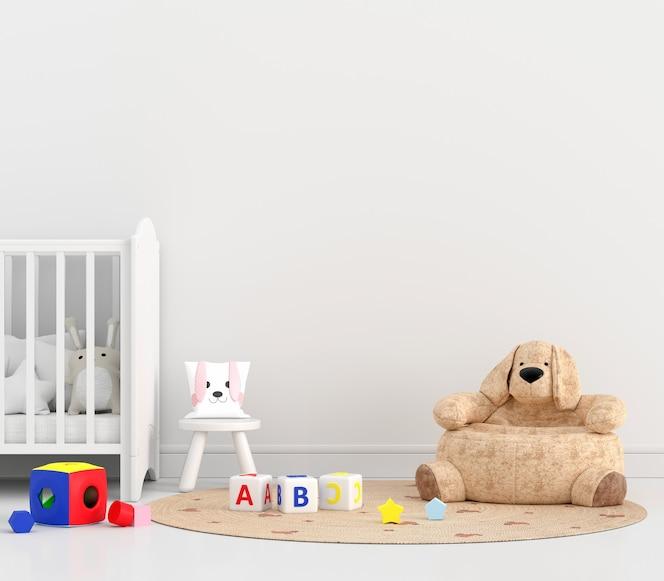 Witte kinderslaapkamer