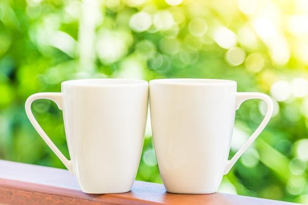 Witte koffiekop