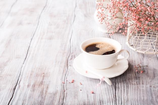Witte kop koffie