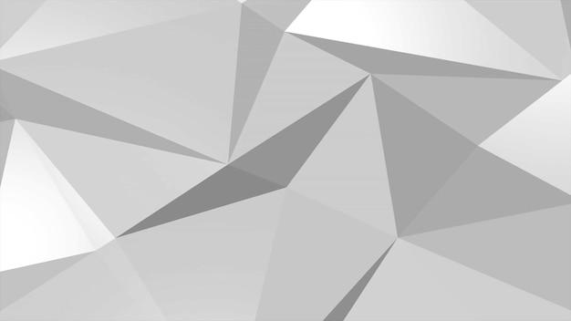 Witte laag poly abstracte achtergrond, driehoeken geometrische vorm. elegante en luxe dynamische stijl voor bedrijven, 3d-illustratie