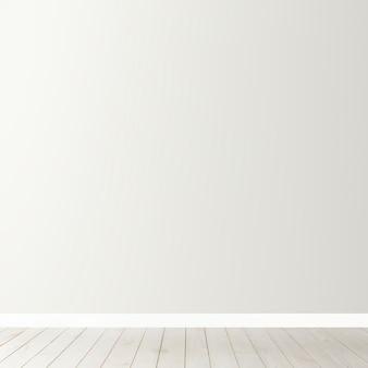Witte lege betonnen muur mockup met een houten vloer