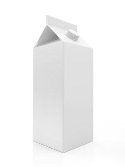 Witte lege melk of sap pakket geïsoleerd