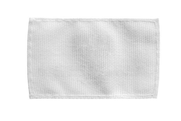Witte lege wasgoed zorg kleding label geïsoleerd op een witte achtergrond