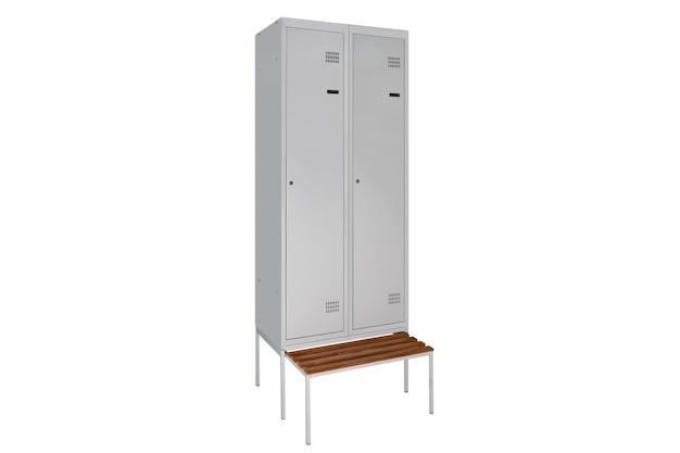 Witte lockers voor kleedkamer. kleedkamer metalen doos grijs