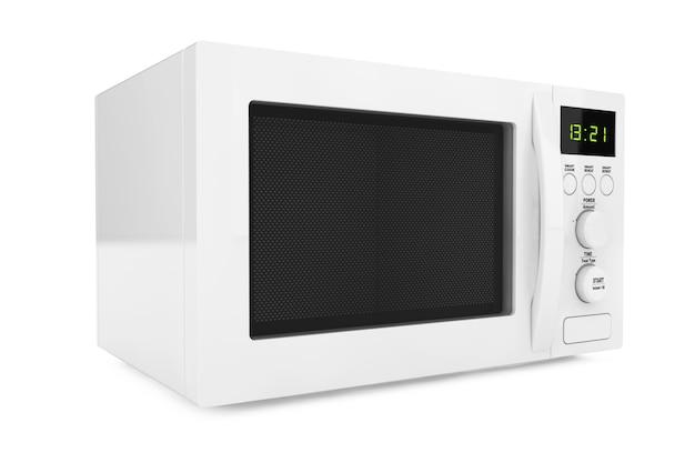 Witte magnetron op een witte achtergrond. 3d-rendering