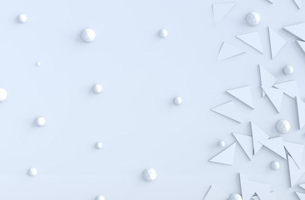 Witte meetkundige driehoek en veelhoek vormen en kopieer de achtergrond van de ruimte