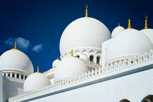 Witte moskee van abu dhabi sheikh zayed