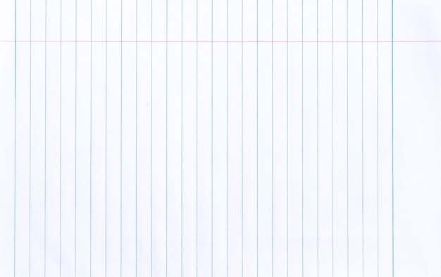 Witte notebook lijn papier achtergrond
