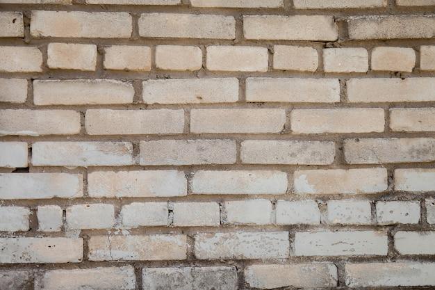 Witte oude industriële baksteenachtergrond
