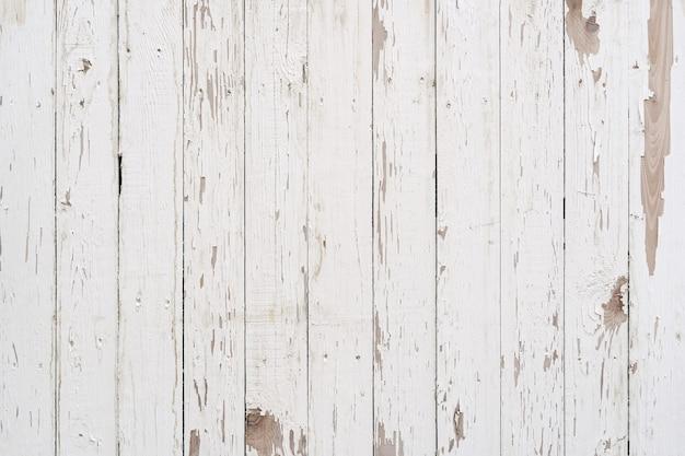 Witte oude verweerde geschilderde houtstructuur paneel vintage patroon.