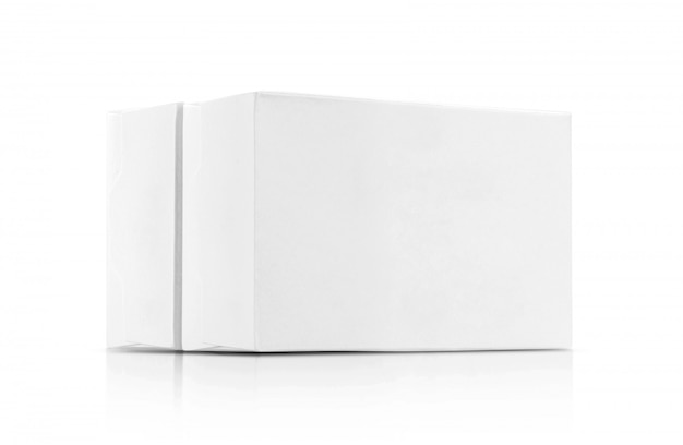 Witte papieren dozen