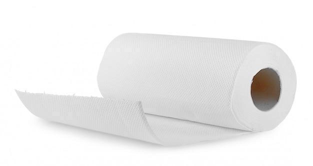 Witte papieren handdoek