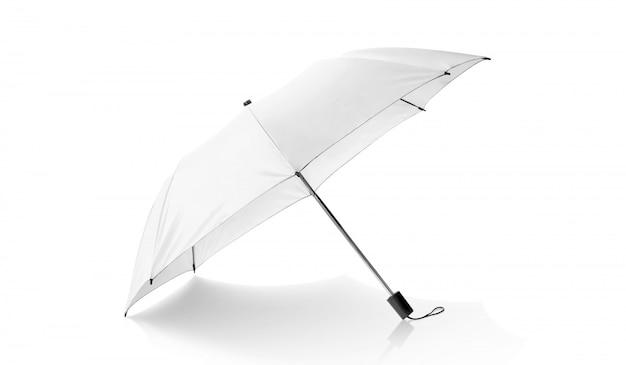 Witte paraplu geïsoleerd op wit