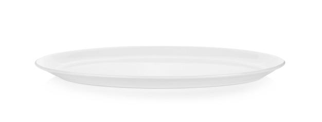 Witte plaat geïsoleerd op wit