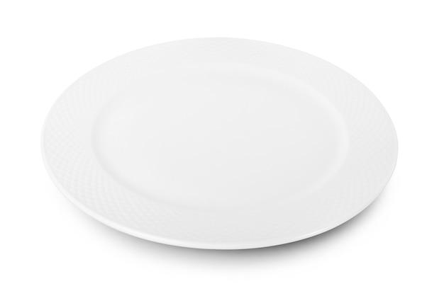 Witte plaat op wit.