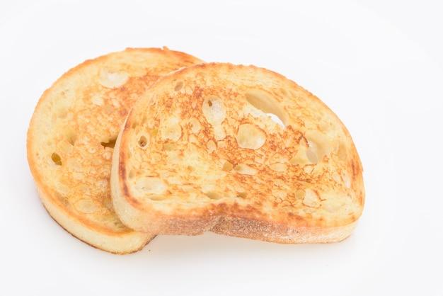 Witte plakje brood op de achtergrond