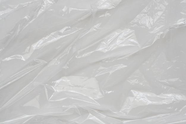 Witte plastic film wrap textuur achtergrond