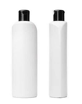 Witte plastic fles wasvloeistof geïsoleerd op een witte achtergrond