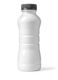 Witte plastic fles